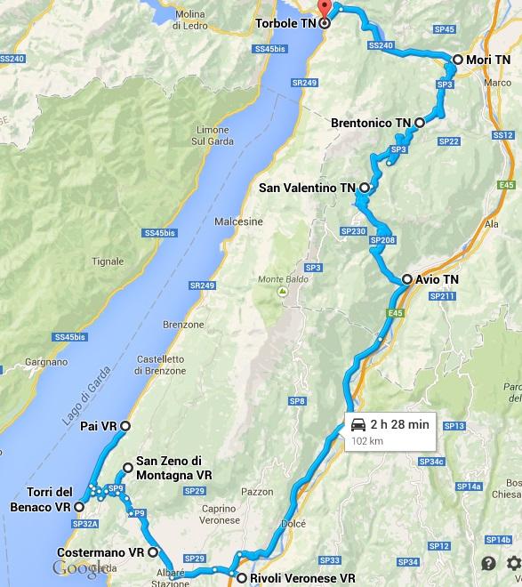 Il Monte Baldo - itinerario