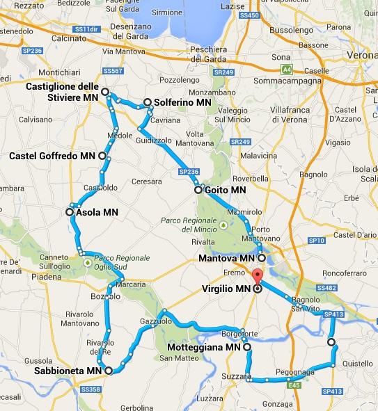 Il mantovano - Itinerario