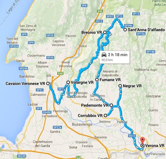 La Valpolicella - itinerario